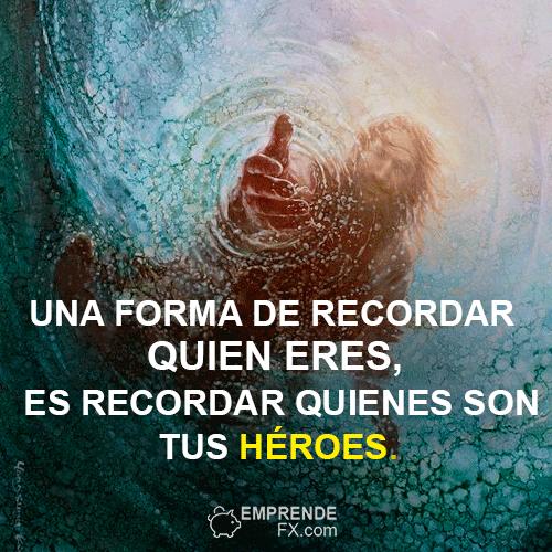 Frases de Steve Jobs apple. Una forma de recordar quien eres, es recordar quienes son tus héroes.