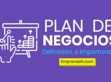 PLAN DE NEGOCIOS : Un plan de negocio es una herramienta de reflexión y trabajo que sirve como punto de partida para un desarrollo empresarial.